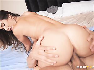 Eva Lovia takes that yam-sized German man sausage deep inwards her