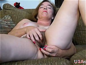 USAwives wooly grandma Pusssy pulverized With bang-out fucktoy