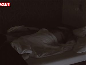 Russian honey gets professional lovemaking to help her sleep