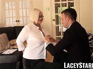 LACEYSTARR - submissive GILF backside wedged by Pascal white