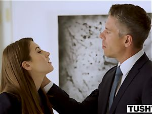 TUSHY secretary Makes Her manager Work For buttfuck