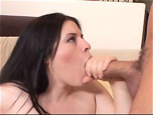 Daphne Rosen gets her raw vulva crammed with rock-hard fuckpole