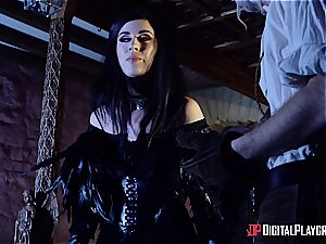 Danny D fools around as Geralt and nails black-haired honey