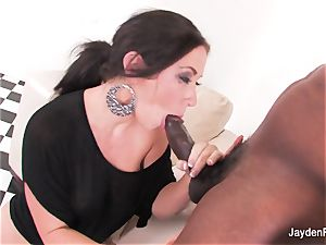 buxom honey Jayden takes a massive black bone from Mr Marcus