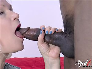 AgedLovE Lacey Starr and ebony fellow gonzo