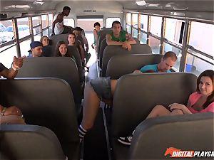 Public school bus pussy striking Maddy OReilly