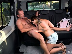 screwed IN TRAFFIC - romp in the car with Czech hottie