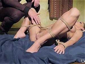 Jessa Rhodes humped by draped mischievous fellow Charles Dera
