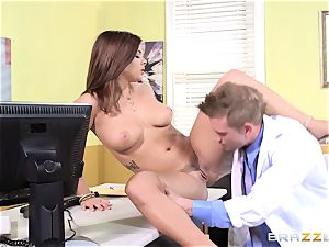 doctor Keisha Grey pokes one of her naughty super-fucking-hot accomplices
