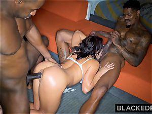 BLACKEDRAW Adriana Chechik Needs A double dose Of big black cock