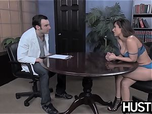 big-titted Reena Sky earns facial after godly stiffy railing