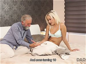 DADDY4K. lady rails older gentleman s joystick in dad porno video