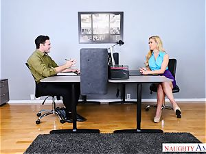 fuckbox pounding cougar cherie Deville in the office