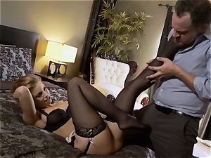 Nylons Sn 5 Britney Amber wears mind-blowing stocking as she drills