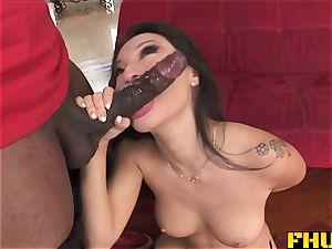 Fhuta immense ebony boner splits cock-squeezing chinese