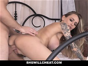 SheWillCheat ultra-kinky wifey pounded by hubbies worker