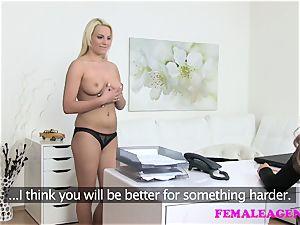 FemaleAgent fabulous schoolgirl seduced by warm agent