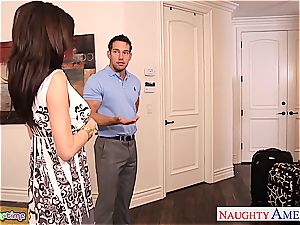 astounding India Summer and Veronica Avluv sate hard-on together