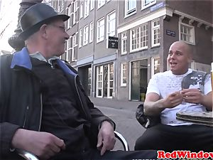 Real dutch escort doggystyled in tights