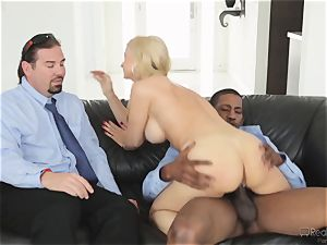 hungry wifey Sarah Vandella gets her appetite suppressed by big black cock