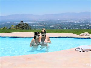 Shyla Jennings and Ryan Ryans after pool cunny party