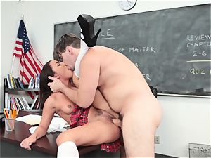 Amara Romani is plunged by the educator throughout his desk