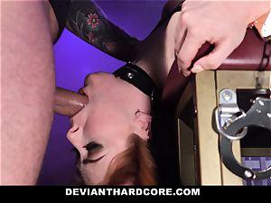 DeviantHardcore - hot ginger-haired Gets gullet pummeled