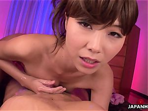 whorish chinese stunner getting her boy off with a rubdown
