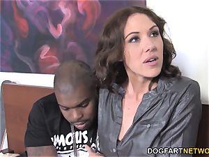 dark-hued trouser snake stunner Katie Angel porks In Front Of Her sonnie