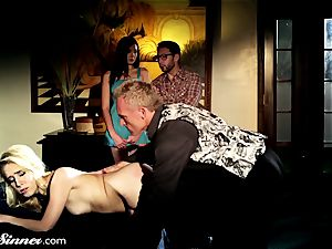 Cadence smacked and banged by sir As couple sees