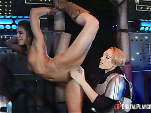 snatch liking lezzies Adriana Chechik and Lily Labeau dump on board