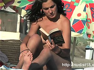 Public naturist spycam gets a really steamy nudist flick