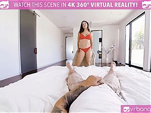 VR porn - busty Abella Danger audition couch get crazy