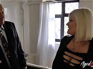 AgedLovE Mature doll Lacey Starr deep throating firm penis