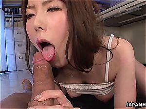 wonderful japanese cockslut getting boned in her office
