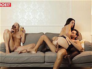 LETSDOEIT - wild wifey Gets poked gonzo By Swingers
