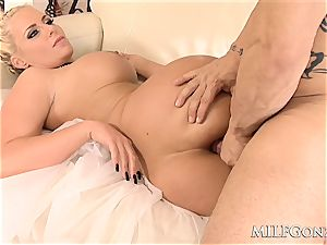 MILFGonzo hefty blonde milf Phoenix Marie gets rectally boinked