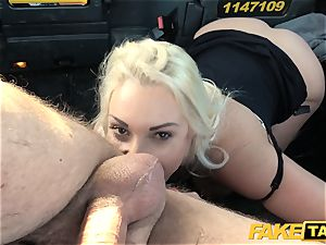 faux cab blond mummy Victoria Summers pulverized in a cab