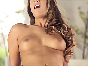 handsome Eva Lovia is instructing her bf some manners before the party