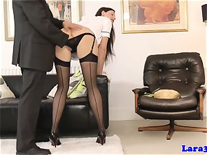 british milf in tights getting finger-tickled