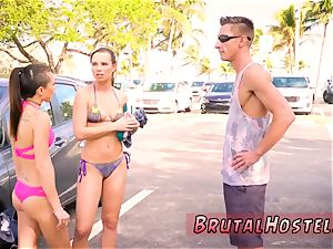 slave wifey gang-bang finest friends Aidra Fox and Kharlie Stone are vacationing in sunny South