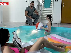 LETSDOEIT - sonnie plows StepMom And sister At The Pool