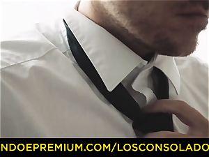LOS CONSOLADORES - inked honey super hot 3 fuck-fest FFM