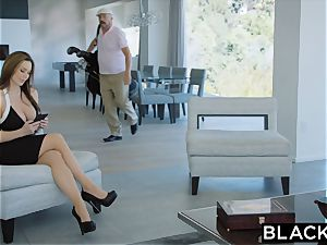BLACKED scorching Trophy wife pounds big black cock in husband's sofa