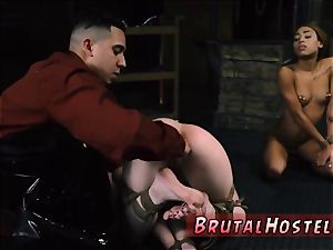 body bag bondage handsome young women, Alexa Nova and Kendall forest, take a train-ride to