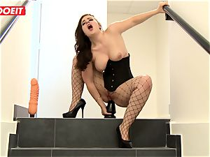 LETSDOEIT - black-haired Thot double-penetrated hardcore By greatest mates