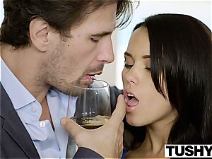 TUSHY My girlfriend Megan Rain Gets pounded in the arse by the Neighbor