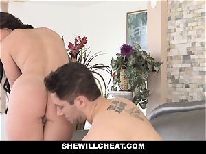 SheWillCheat super-fucking-hot wife Cheats with hubbies colleague